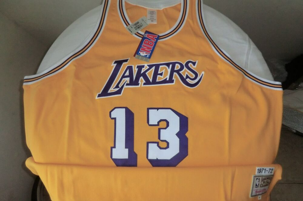 13 Los Angeles Lakers Wilt Chamberlain Jersey 100 Authentic EBay