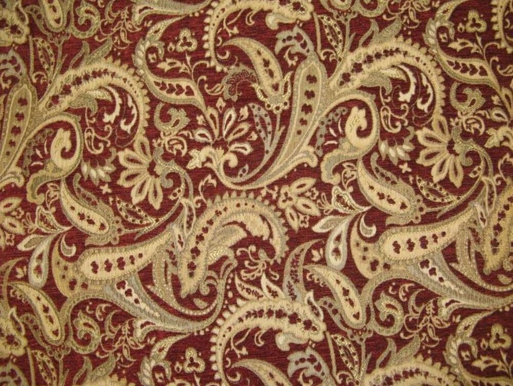 Chenille Tapestry Upholstery Fabric Paisley