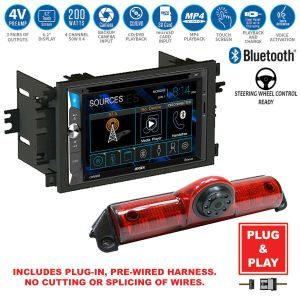 Double DIN Touchscreen USB RadioBackup Camera0407 Chevy