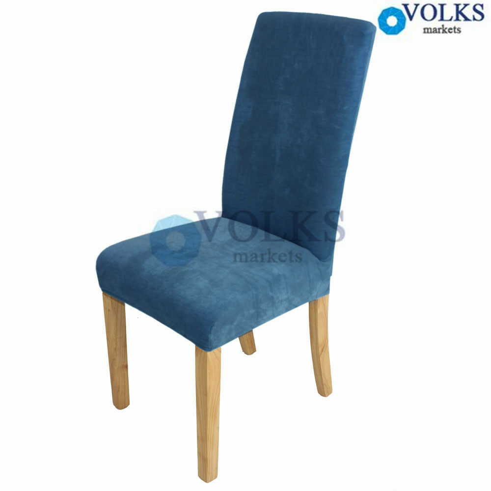 Large Super Fit Stretch Short Dining Room Chair Cover Slip