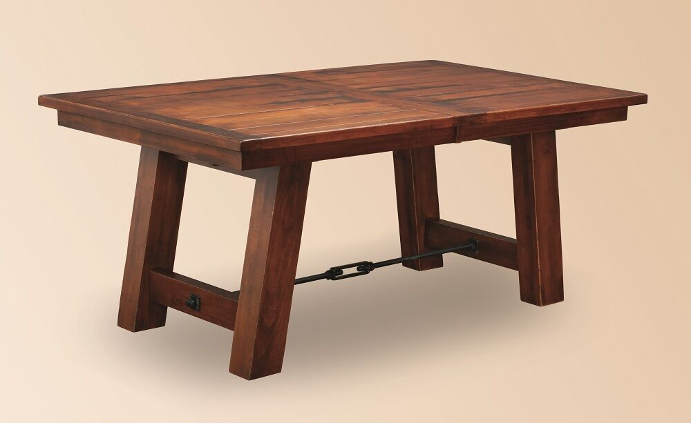 Amish Rustic Plank Dining Table Farmhouse Cabin Wood