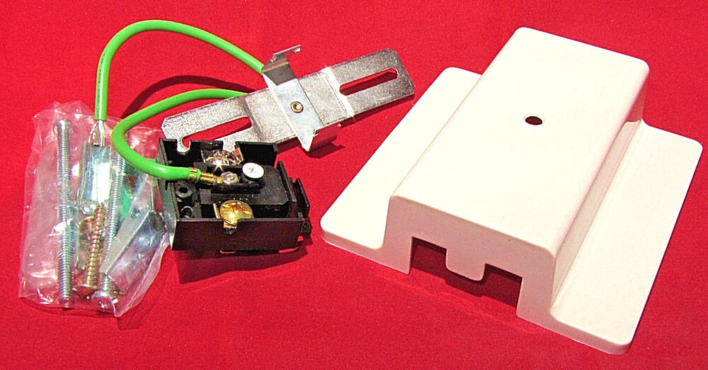120v 20A White Floating Canopy Feed Point Live Connector