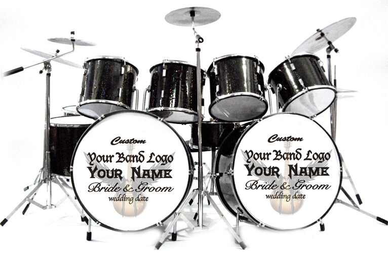 Miniature Drums Personalized Custom Wedding Cake Topper