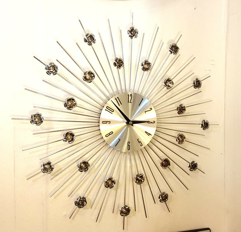 Jeweled Sunburst Metal Wall Art