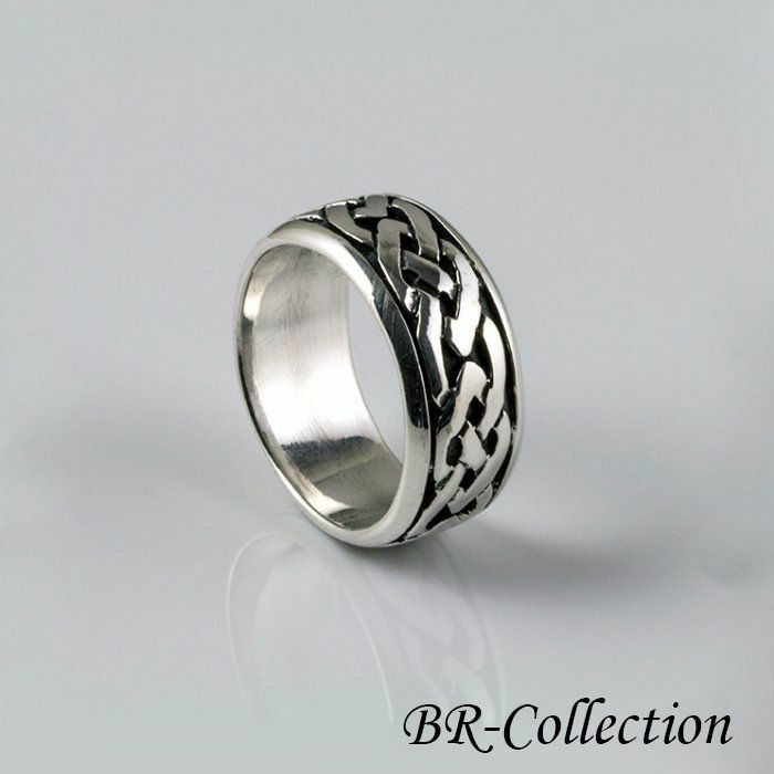 Solid Sterling Silver Celtic Knot Band Ring For Men Or