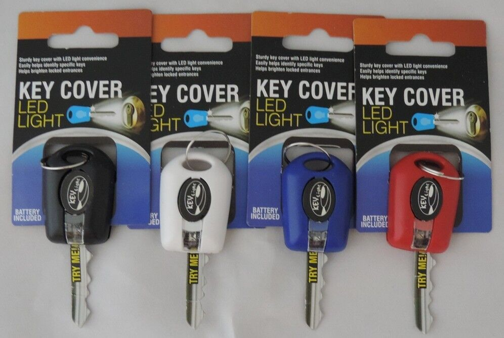 2 LED Bright Light Key Cover Keychain Torch Flashlight