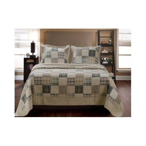 Queen Size Comforter Quilt 3 Pc Country Bedding Set Farm