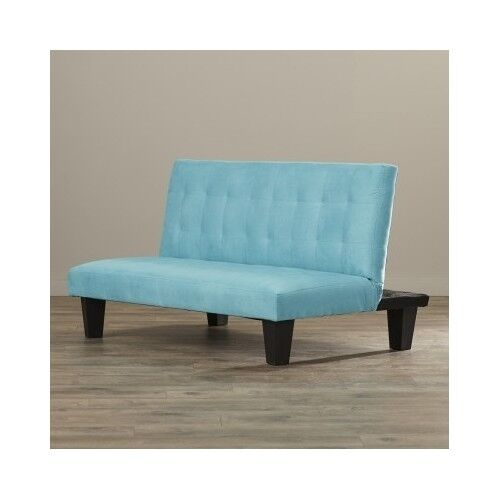 Kids Futon Sofa Sleeper Bed Teal Modern Bedroom Furniture