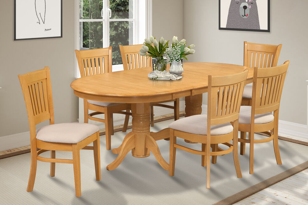 OVAL DINETTE KITCHEN DINING ROOM TABLE SET With SOFT