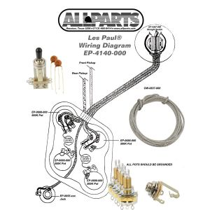 Wiring Kit for GIBSON® LES PAUL COMPLETE w Diagram CTS