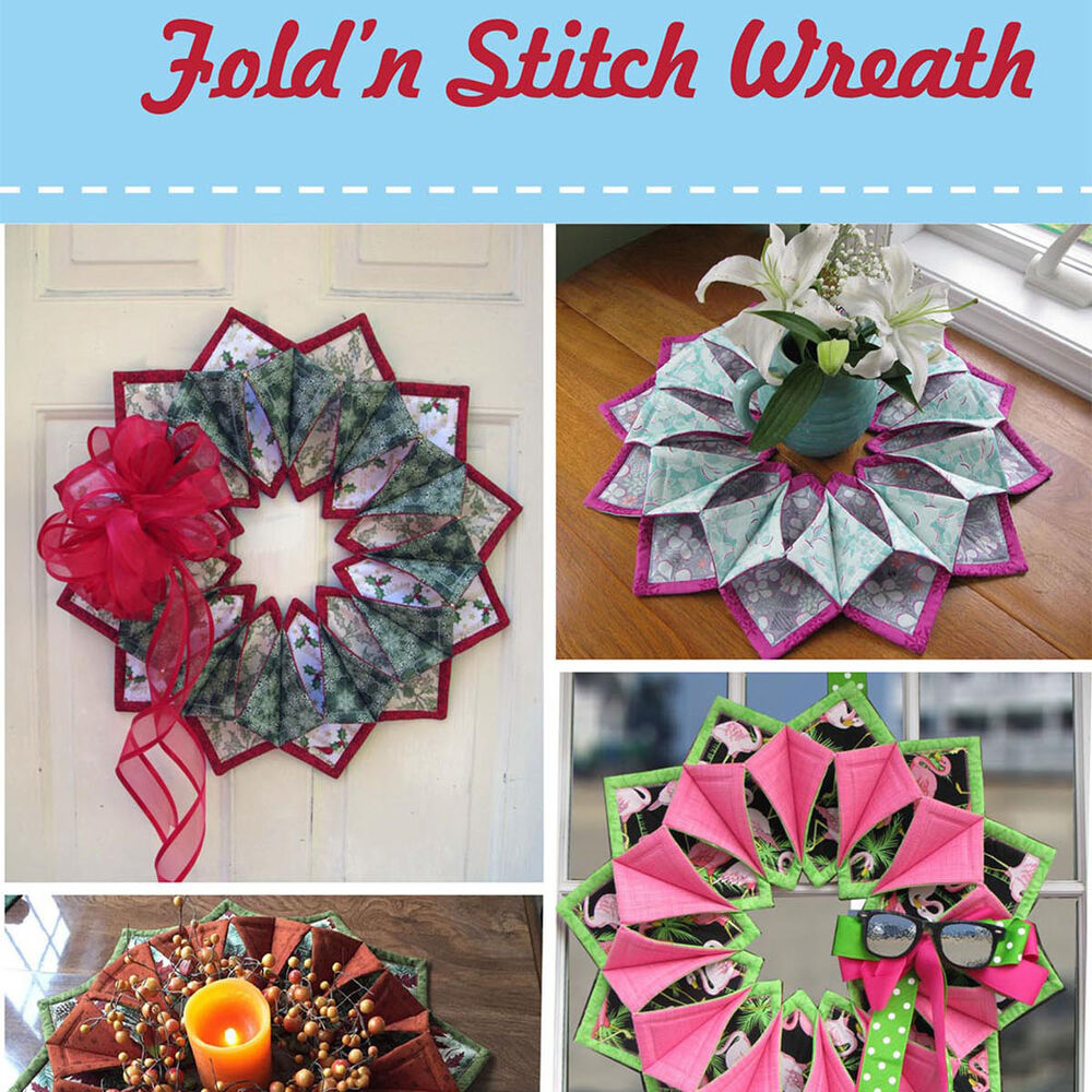 Foldn Stitch Wreath Pattern Pattern Only Not The