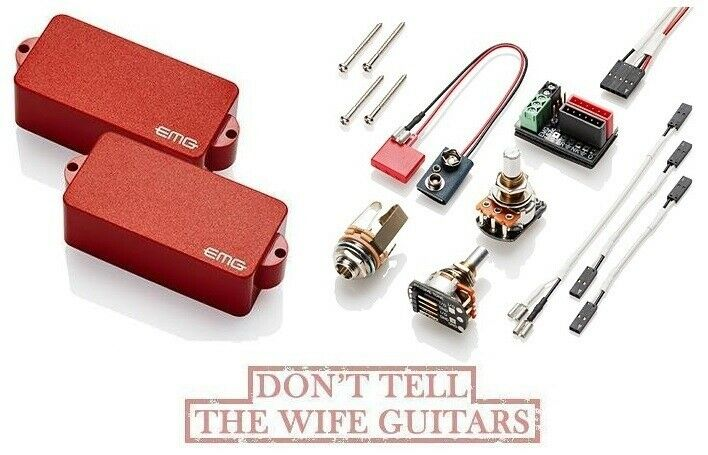 EMG P BASS RED ACTIVE PRECISION REPLACEMENT SOLDERLESS
