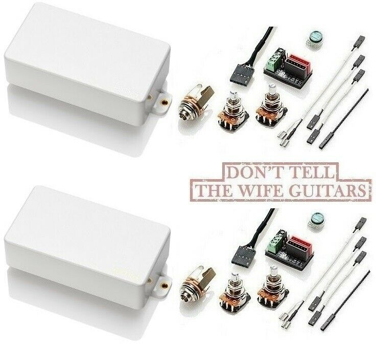 Emg Hz H4 Amp H4a Passive White Humbucker Pickup Set W