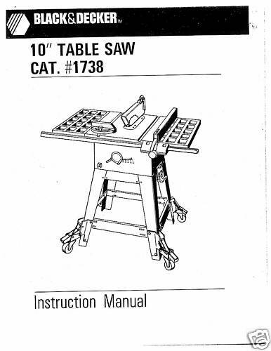 Decker Black And 8 Table Manual Saw Owners