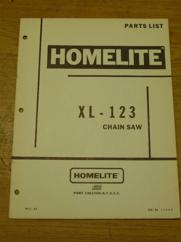 Homelite Xl Chainsaw Parts Manual