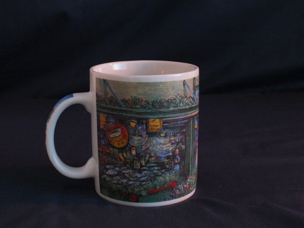 Rare Starbucks Watercolor Coffee Mug Of Pikes Place