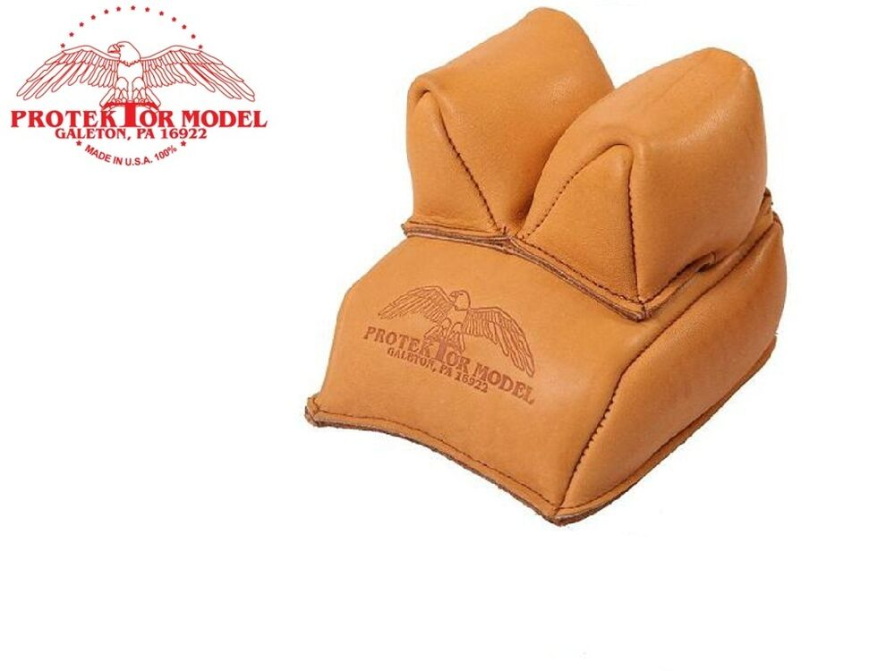 Protektor Heavy Duty Leather Bench Rest Front Rifle Bag