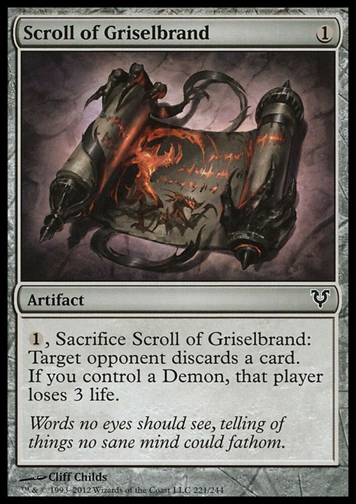 Scroll Of Griselbrand X4 EXNM Avacyn Restored Magic Cards Artifact Common EBay
