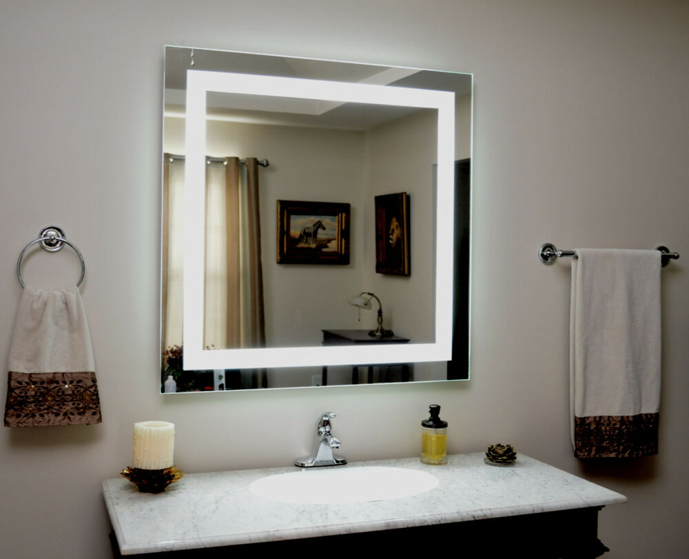 Lighted Vanity Mirror, Led Lighted, Wall Mounted MAM83636