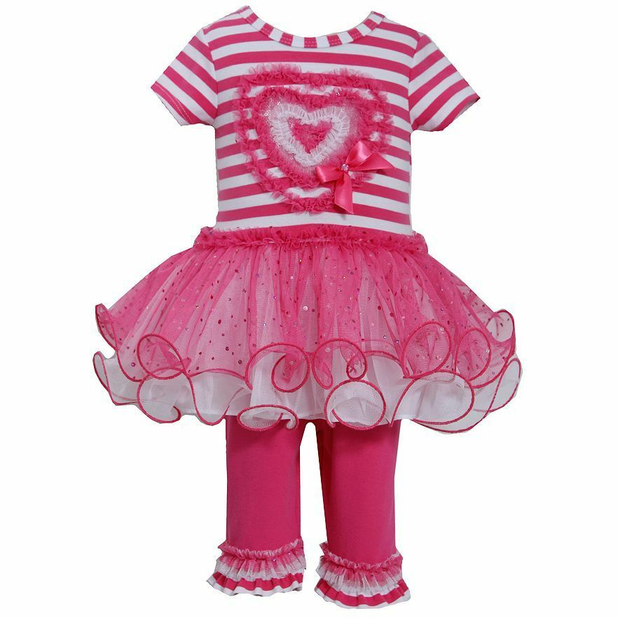 Bonnie Jean Valentine Heart Tutu Dress Amp Leggings Set