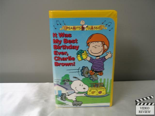 It Was My Best Birthday Ever Charlie Brown VHS 1997