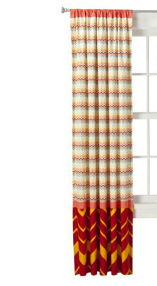 MISSONI For Target WINDOW PANEL CURTAINS Red Medallion Drapes 84 EBay