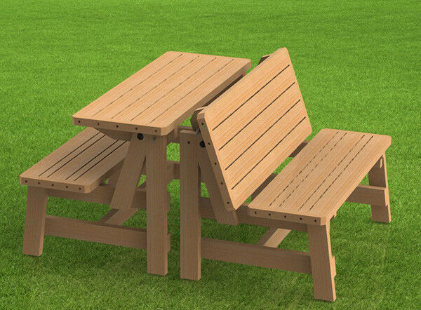 Convertible Benches To Picnic Table Combination Building