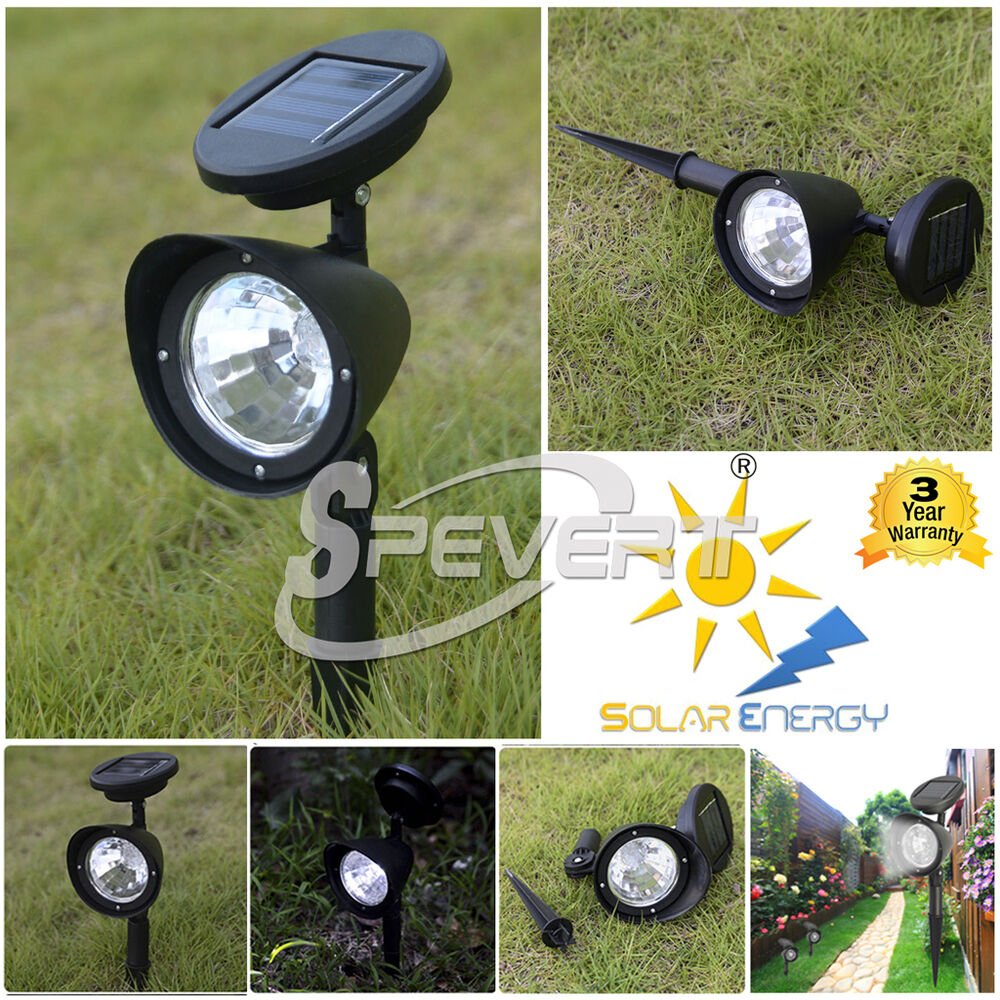 Solar 4 LED Garden Lamp Spot Light Party Path Outdoor