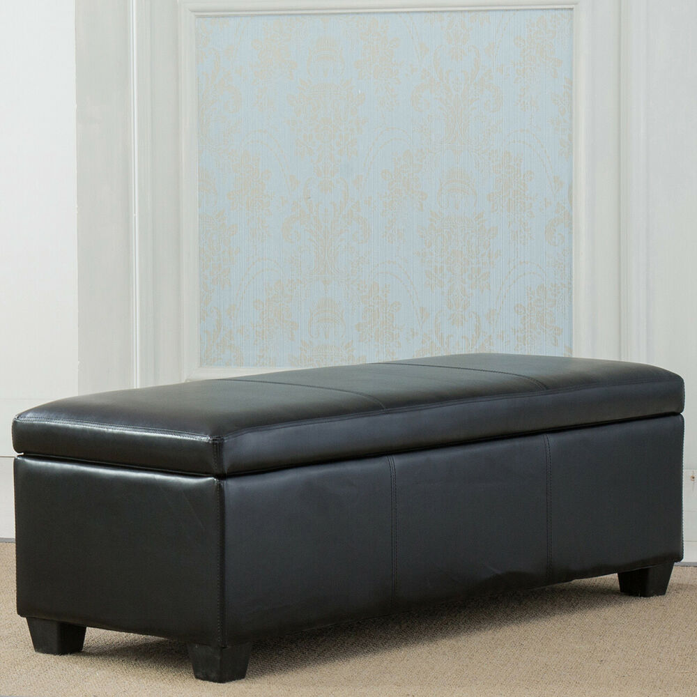 Contemporary Modern Faux Leather Bedroom Rectangular