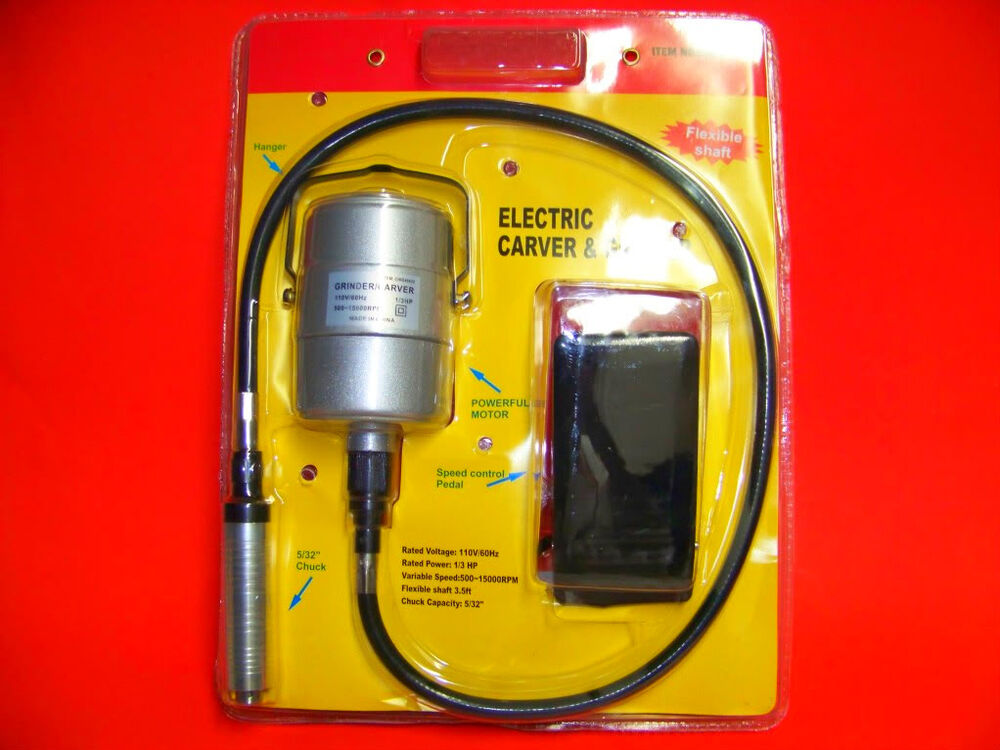 Electric Flexible Shaft Caver Die Grinder Carving Tool Ebay