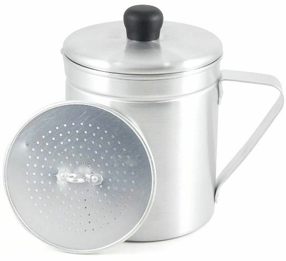 Aluminum GREASE SAVE POT W Strainer Cooking Oil Dispenser