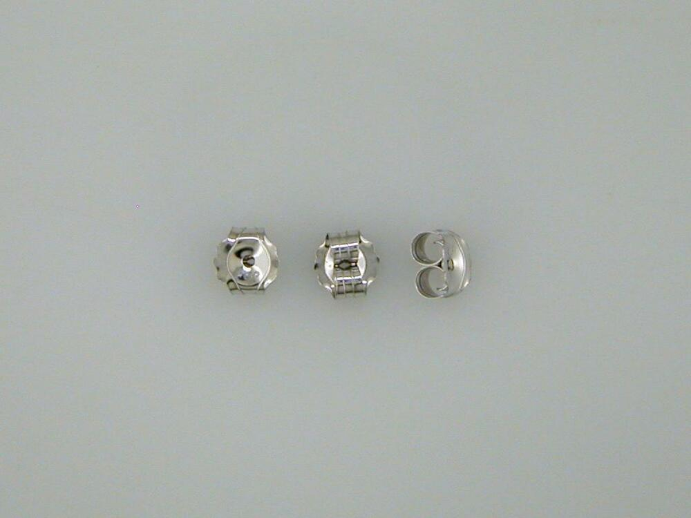 One Pair Medium Weight Friction Earring Backs White Gold