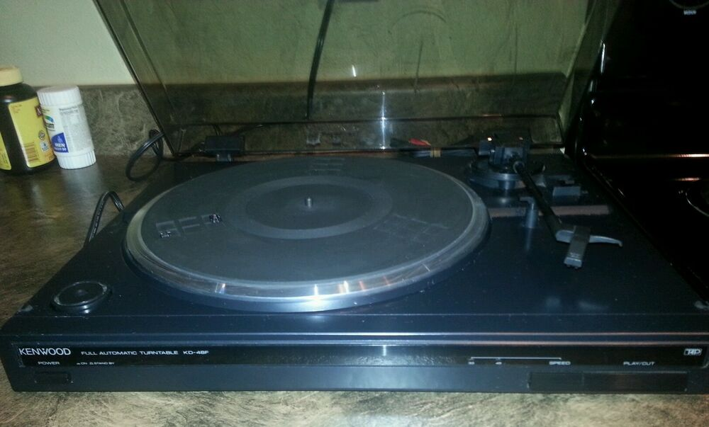 VINTAGE Kenwood KD 48F Turntable With Lid Cover And New