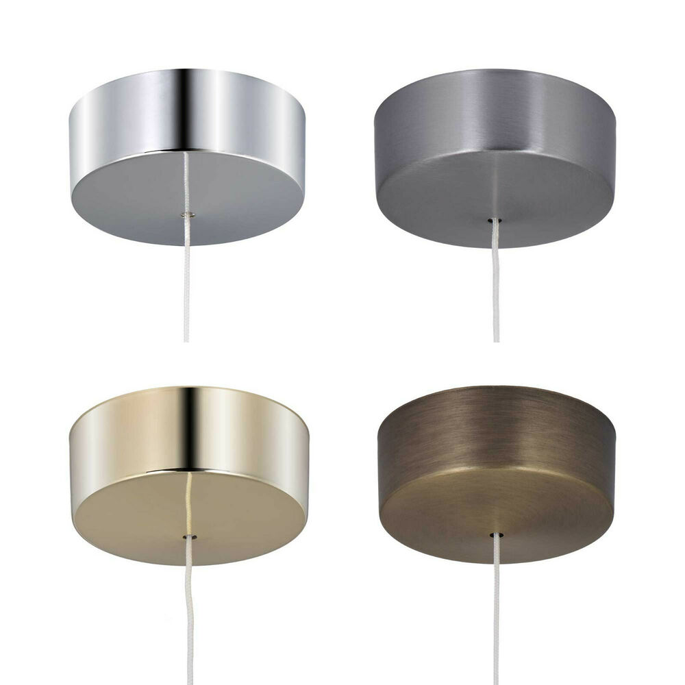 Round Silver Pendant Light