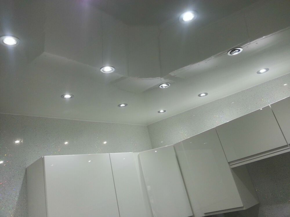 7 Gloss White PVC Ceiling Panels Plain White Plastic