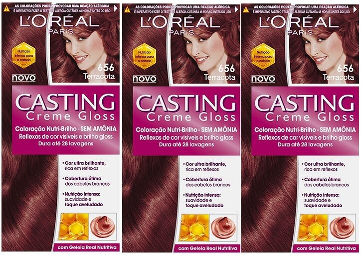 3 X LOreal Paris Casting Creme Gloss 656 Terracotta
