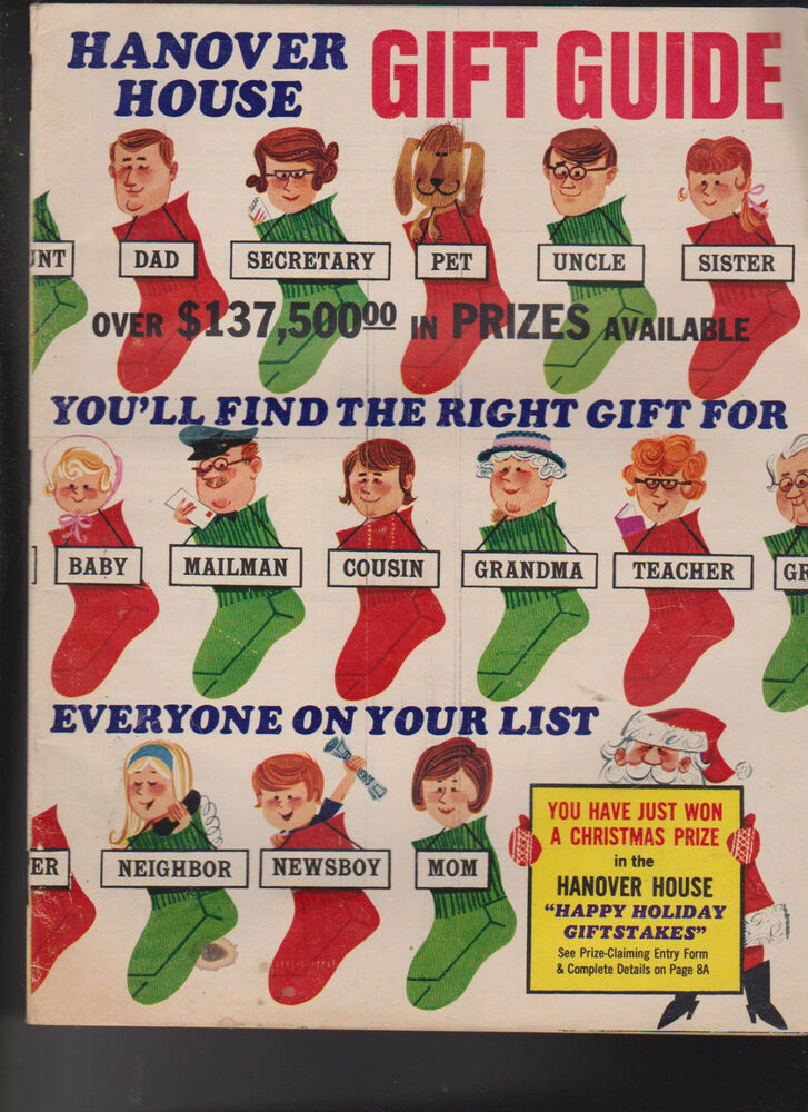 Hanover House Christmas Catalog 1969 Most Unusual Gifts ...