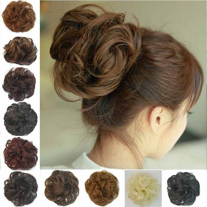 Curly Messy Bun Hair Piece Scrunchie Choose Your Shade