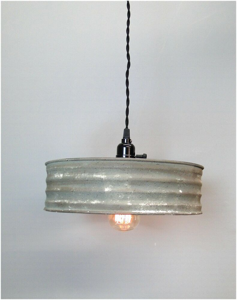 Yellow Metal Pendant Light