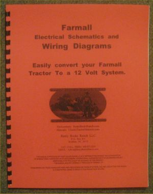 FARMALL 12 Volt conversion Wiring Diagrams  Schematics A B H M Super H Super M | eBay