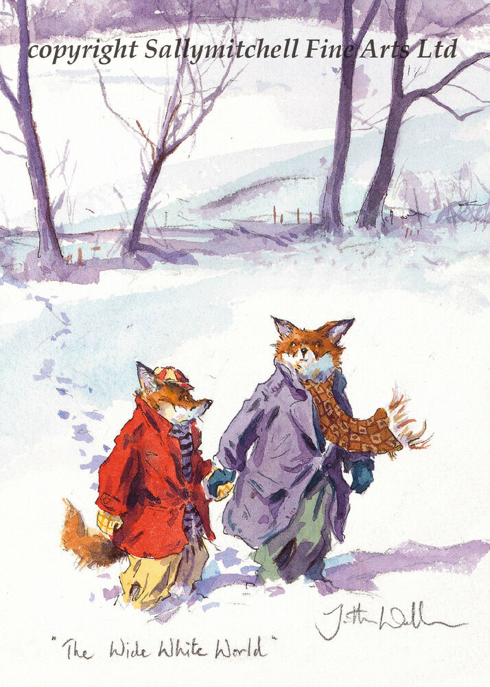 Funny Fox Wildlife Christmas Cards Pack Of 10 By Jonathan