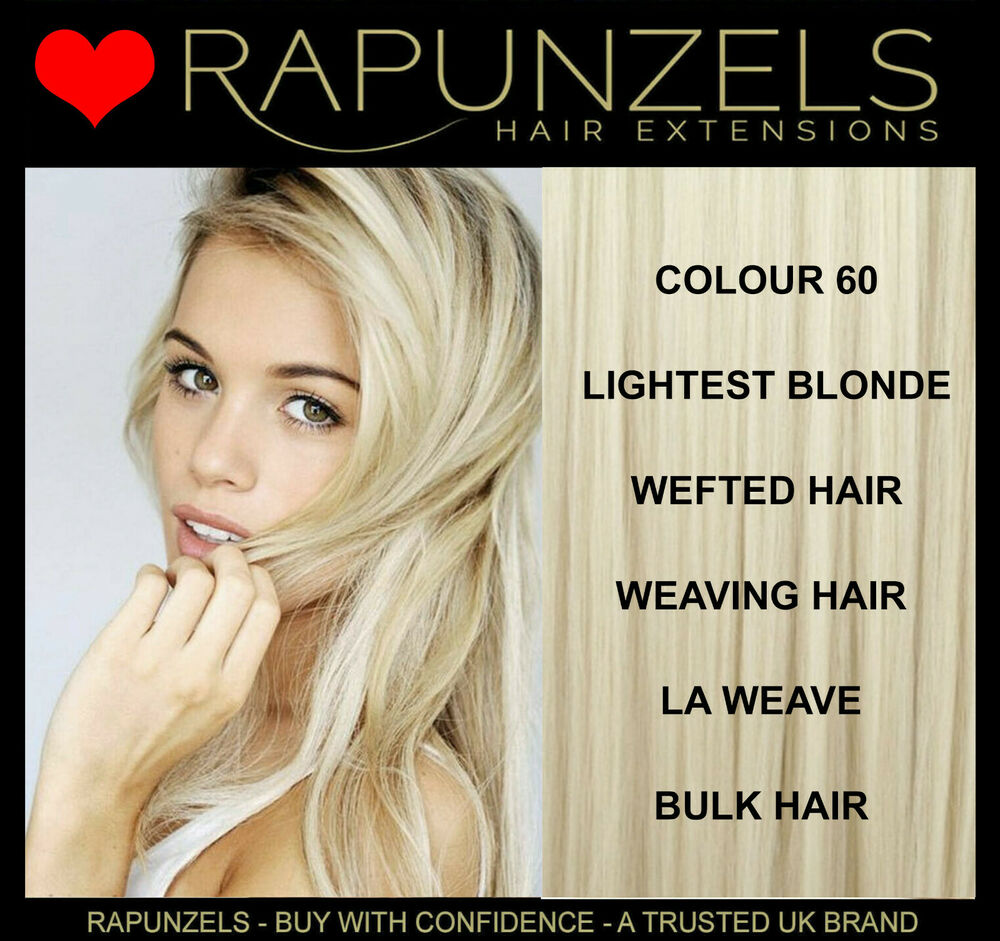 Platinum Blonde Lightest Blonde Rapunzels Human Hair