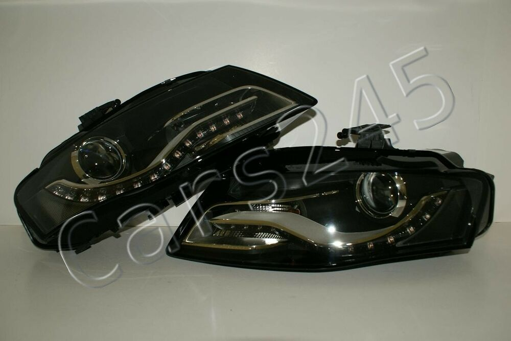 2010- Audi A4 B8 Bi Xenon LED DRL Headlights Front Lamps