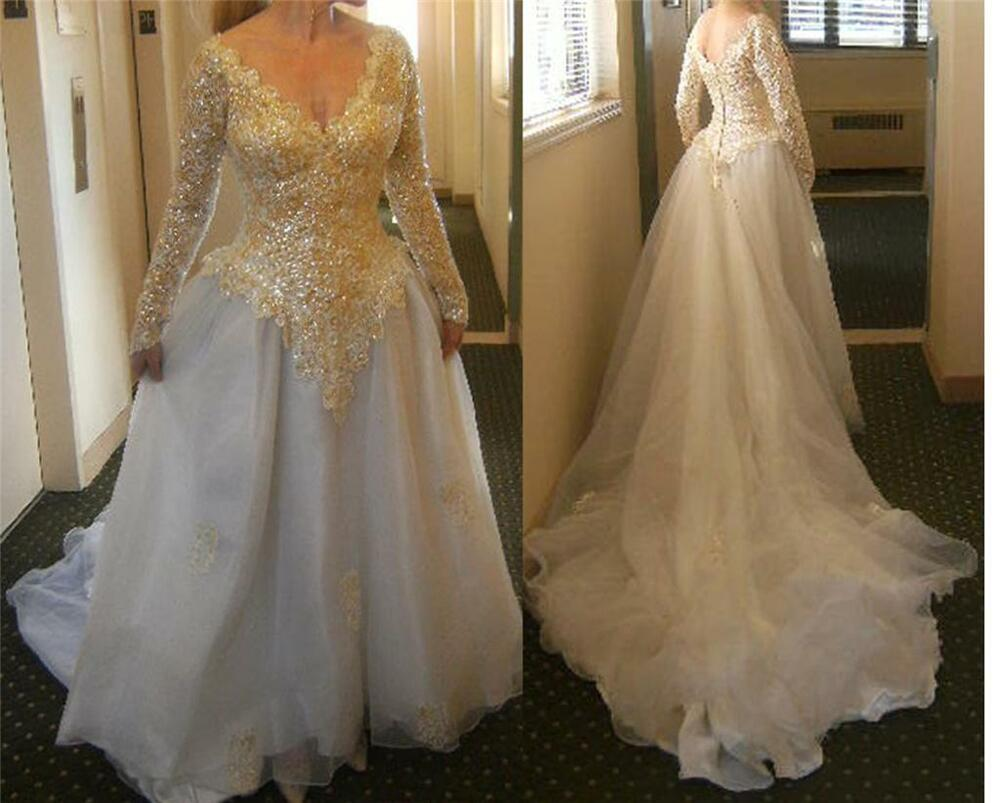 VTG Long Sleeves FITTED SEQUINED CORSET SHEER BALLROOM