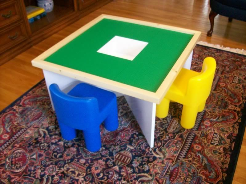 Plans To Build A Table For Use With LEGO Building Toys