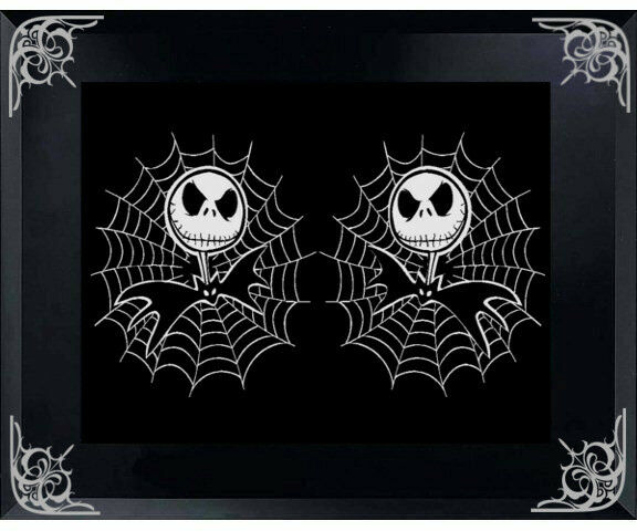 JACK SKELLINGTON With SPIDER WEB 5x 5 CAR DECAL STICKER