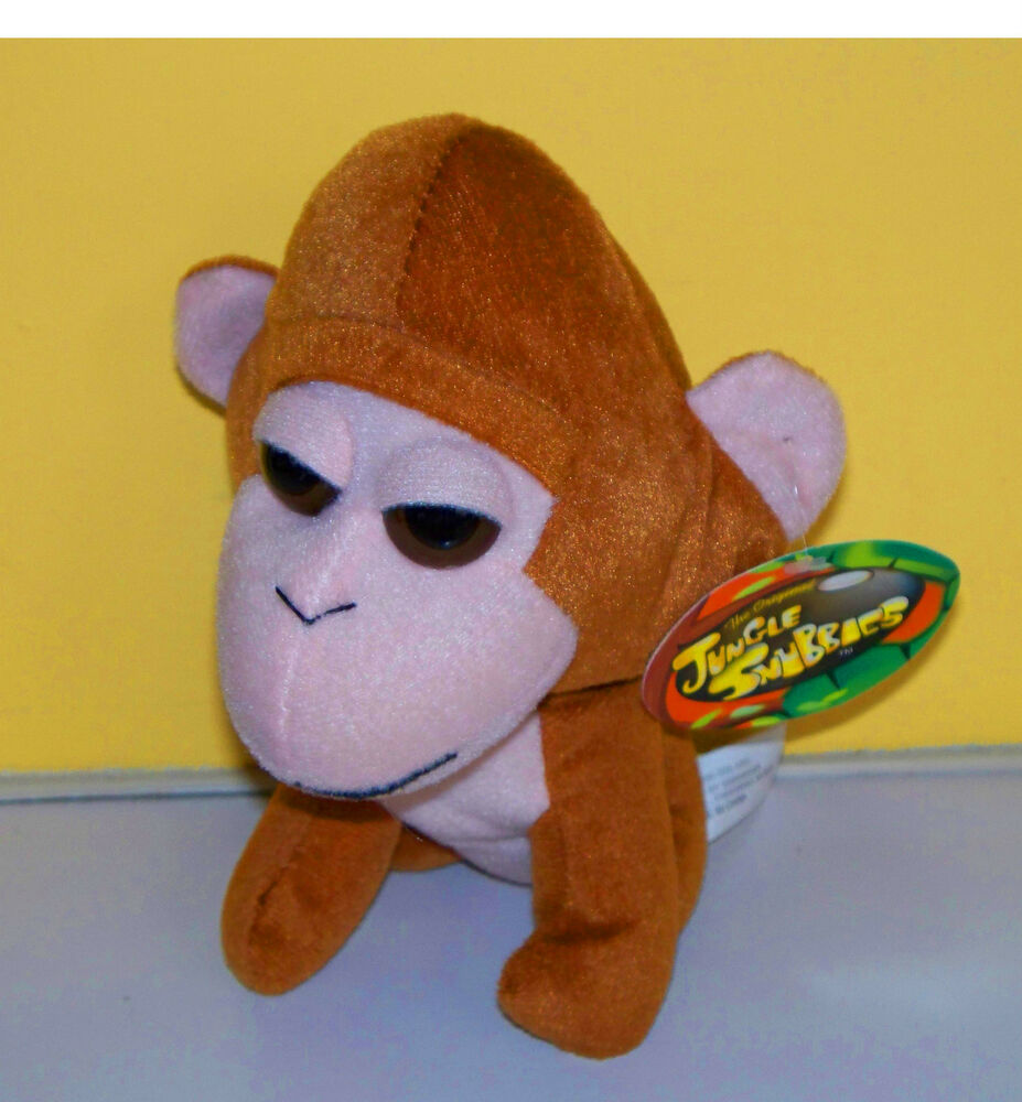 Greenbrier Jungle Snubbies7 Brown Silly Monkey Plush