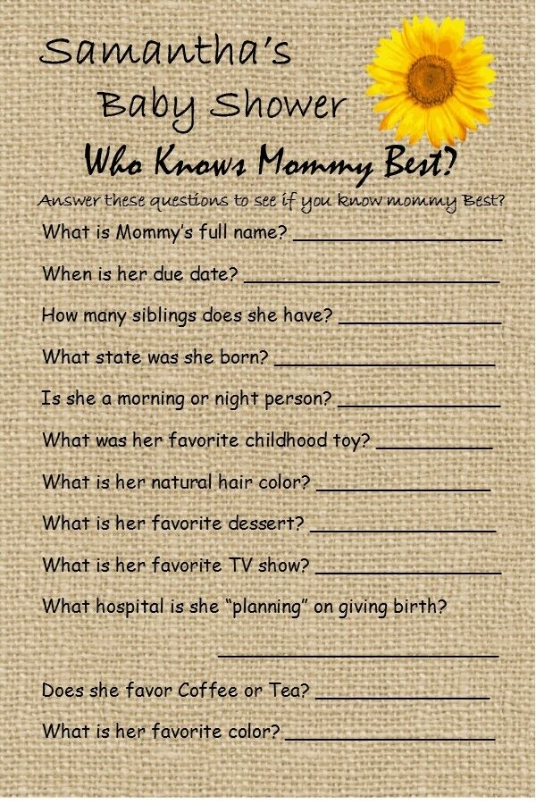 14 Personalized Who Knows Mommy Best Baby Shower Game Dr Seuss And Others EBay
