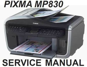 Canon PIXMA MP830 MP 830 Service Repair Manual Parts Catalog Block Diagram PDF | eBay