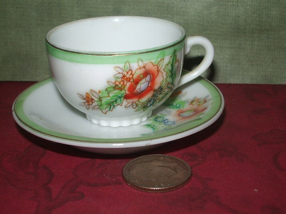 Saucer Japan Made Teacup Miniature And Trademarks